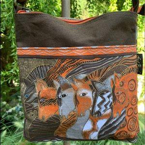 LAUREL BURCH Moroccan Mares Horses Crossbody Bag